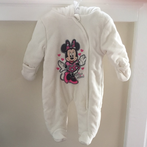 36cd523bb Disney One Pieces | Minnie Mouse Fleece Bunting 36 Month Nwot | Poshmark